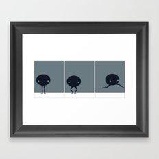 Fuzzy Plie Framed Art Print
