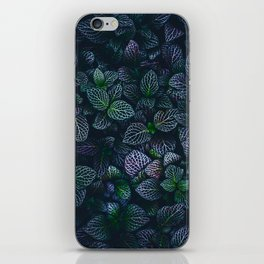 Purple and Green Plants (Color) iPhone Skin
