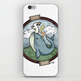 Tai Chi The Rabbit and The Whale iPhone Skin