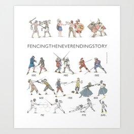 """Fencing """"Quick fencing history"""" Art Print"""