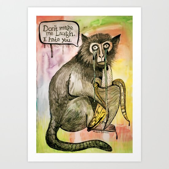 Sad Monkey Art Print