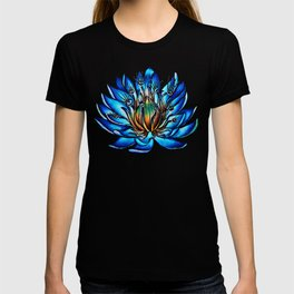 Multi Eyed Blue Water Lily Flower T-shirt