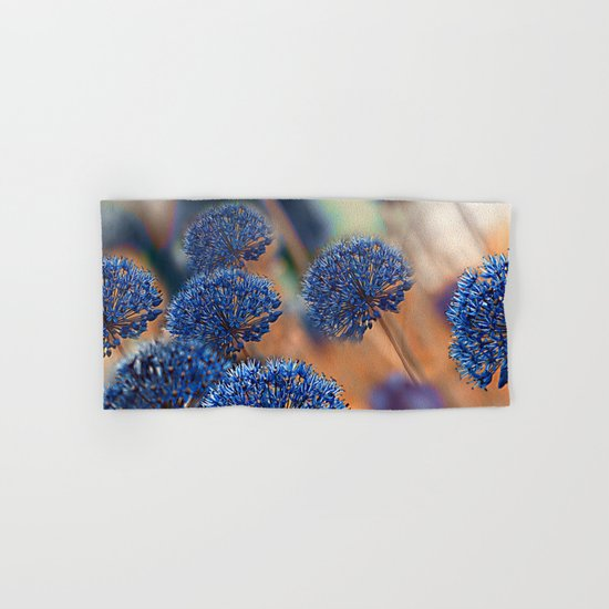 Blue ball flowers. Hand & Bath Towel