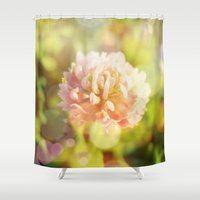 clover Shower Curtains featuring Clover by Magic Emilia