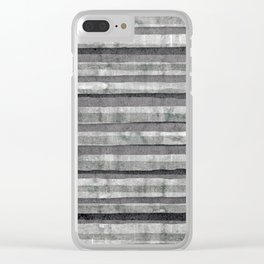 Birch Dust Leather Clear iPhone Case