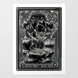 THE DEVIL of Tarot Cats Art Print