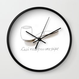 Ceci n'est pas une pipe Wall Clock