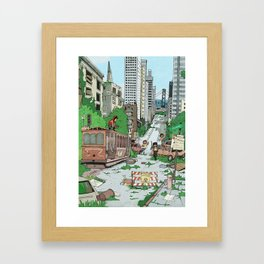 Post Apocalyptic San Francisco Framed Art Print