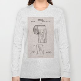 Original Toilet Paper U.S. Patent No. 465,588 by Seth Wheeler (Dec. 22, 1891) Long Sleeve T-shirt