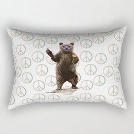 peace bear Rectangular Pillow