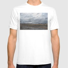 Crane in the Swamp Mens Fitted Tee MEDIUM White