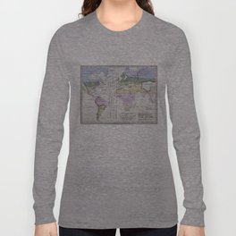 Vintage World Climate Map (1823) Long Sleeve T-shirt
