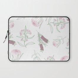 Australian Native Flower Line Pattern Laptop Sleeve