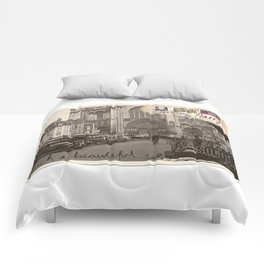 Beautiful city Comforters