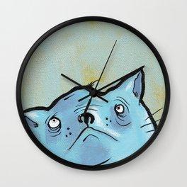 Sad Fat Cat Wall Clock