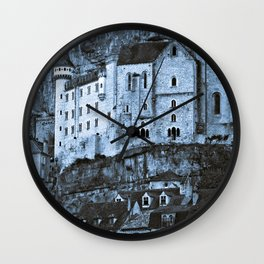 Medieval castle in the pilgrimage town of Rocamadour Wall Clock