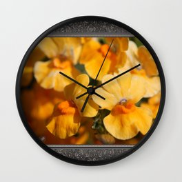 Nemesia Strumosa named Angelart Pear Wall Clock
