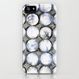 WATERCOLOUR DISCS: White Howlite iPhone Case