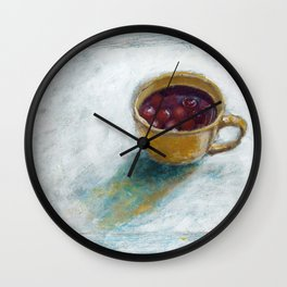 Cherry compote in my cup Wall Clock