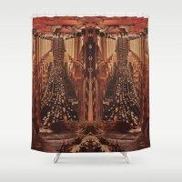 clockwork Shower Curtains featuring Clockwork Empire by Donovan Justice