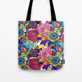 Floral Wallpaper by Sandip Tote Bag