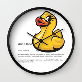 DuckFace Dictionary Definition Wall Clock