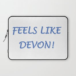 FEELS LIKE DEVON!  LOGO Laptop Sleeve