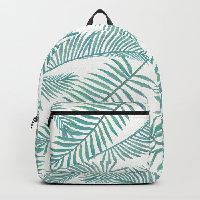 Palm Leaf Pattern Island Paradise Backpack