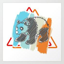 Panda Bear Gift Great China Bamboo Bear Art Print