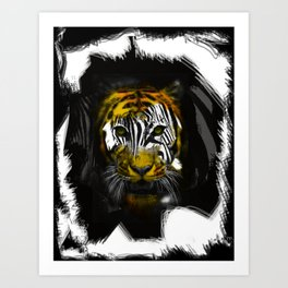 "Zebra Vs Tiger ""Zeger"" Art Print"