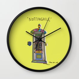 nottinghill door2 Wall Clock