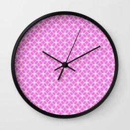 Trellis_Pink Wall Clock