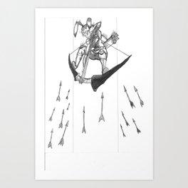 S1: The Rabbit! Art Print