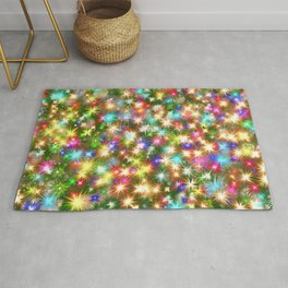 Star colorful christmas abstract Rug