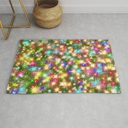 Star colorful christmas abstract Rug