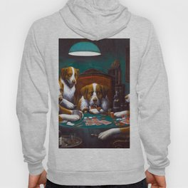 Cassius Marcellus Coolidge Dogs Playing Poker Hoody
