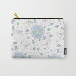 Wind and Rain Flowers Carry-All Pouch