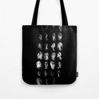 mythology Tote Bags featuring Moon Cycle Mythology by Rhymes With Sky
