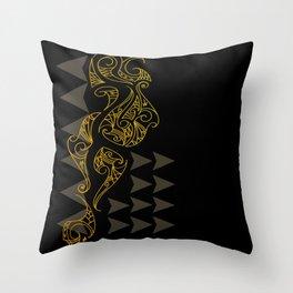 Riddick - Brown Throw Pillow