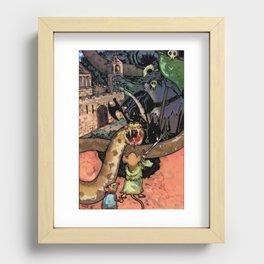Bravery in Sandstone Recessed Framed Print
