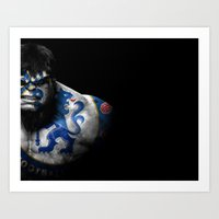 chelsea fc Art Prints featuring The Hulk Chelsea FC by Sport_Designs