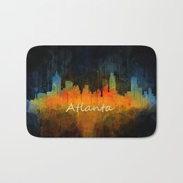 Atlanta City Skyline UHq v4 Bath Mat