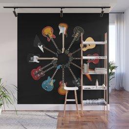 Guitar Circle Wall Mural