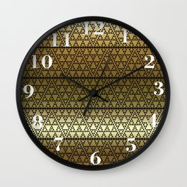 Triangles in Triangles on gold Wall Clock