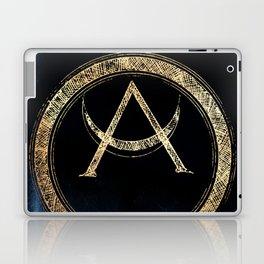 Lunar Goddess - Metallic Gold Black Laptop & iPad Skin