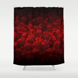 cherries pattern reaclidr Shower Curtain