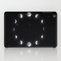 moon phases iPad Cases featuring Moon Phases by KittyBitty