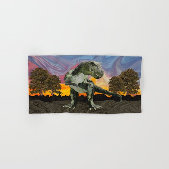 Tyrannosaurus Rex at the Twilight Hour Hand & Bath Towel
