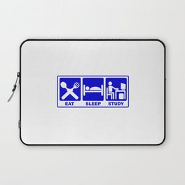 eat, sleep, study-hack Laptop Sleeve