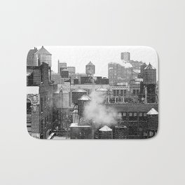 Water towers of the New York City. Bath Mat